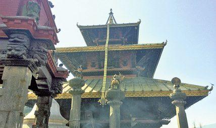 ललितपुरको बालकुमारी मन्दिर पुनर्निर्माण अघि बढ्यो